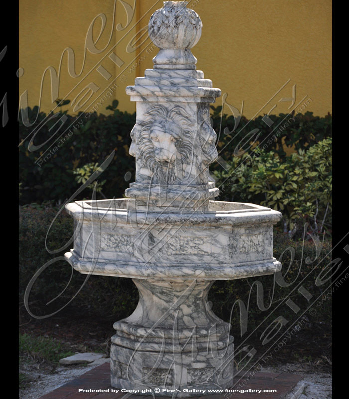 Marble Fountains  - English Gardens Lions Fountain - MF-880