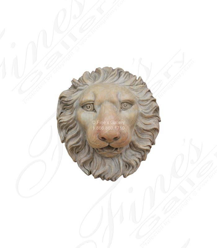 Bronze Fountains  - Bronze Lion Wall Fountain - BF-450