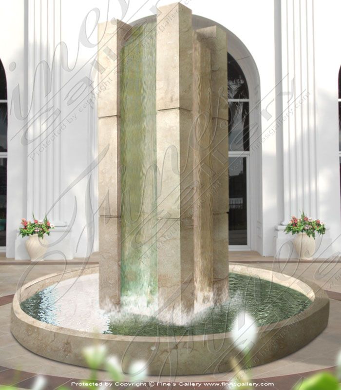 Commercial style Marble and Bronze Fountains