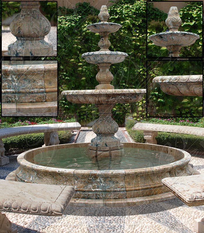 Marble Fountains  - Extra Large Outdoor Granite Fountain - MF-1596