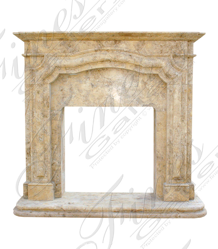 Marble Fireplaces  - Arched Marble Fireplace - MFP-1614