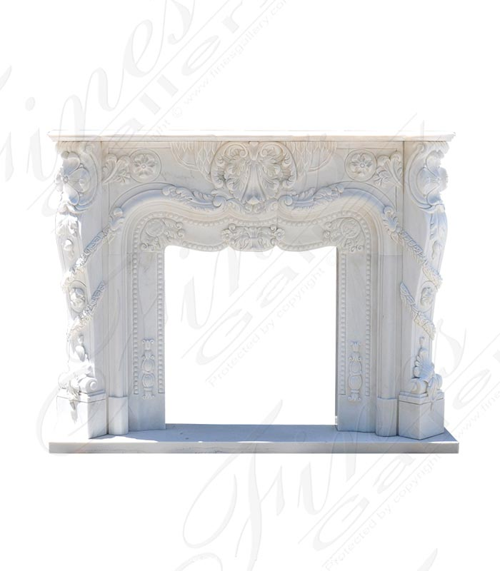 Marble Fireplaces  - Luxurious French Marble Surrou - MFP-1589