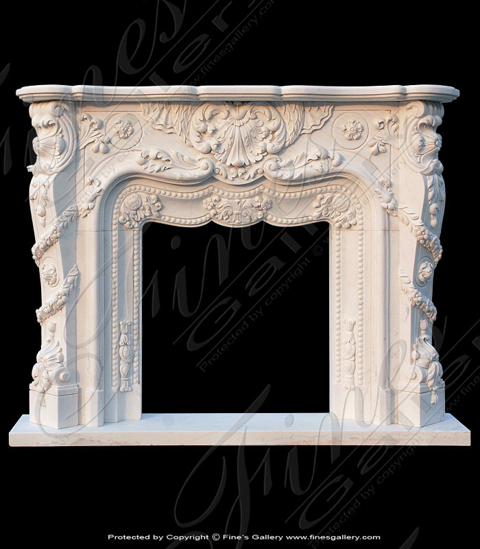 White Floral Fireplace Mantel ... - Marble Mantels Fireplace Mantles Marble Fireplaces Hearths