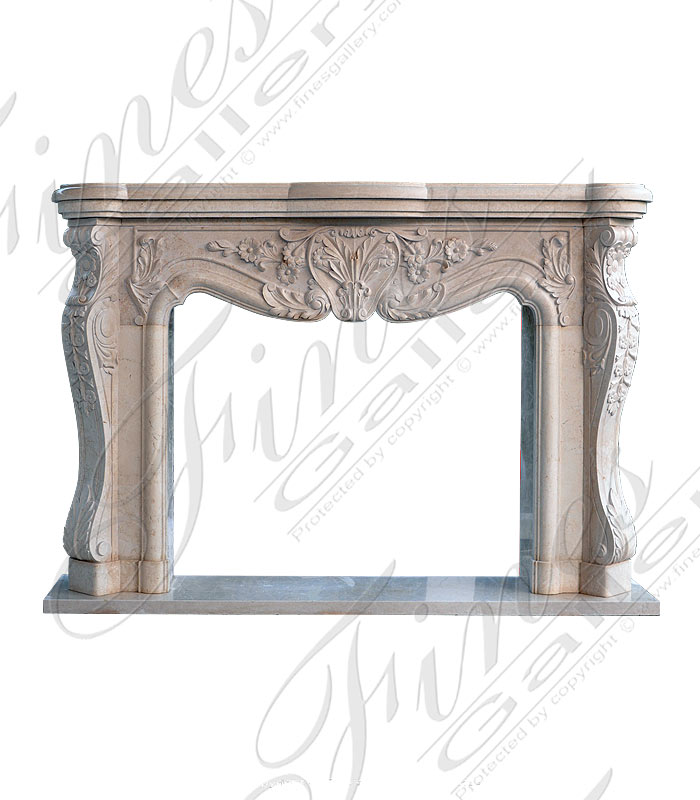Marble Fireplaces  - French Style Marble Mantel - MFP-1586