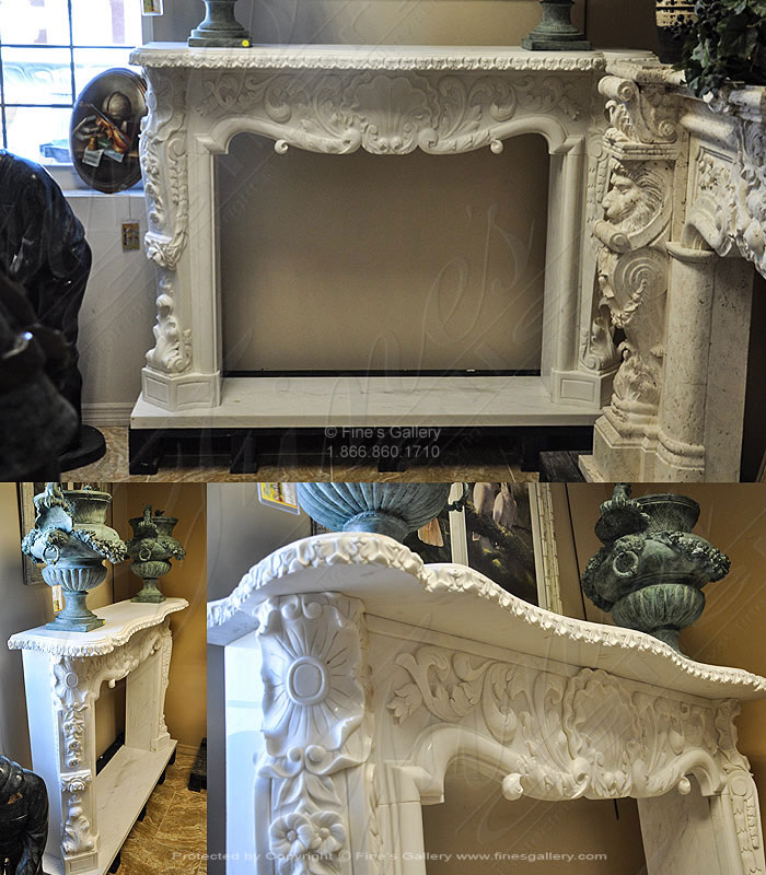 Bourguignon Marble Fireplace Surround