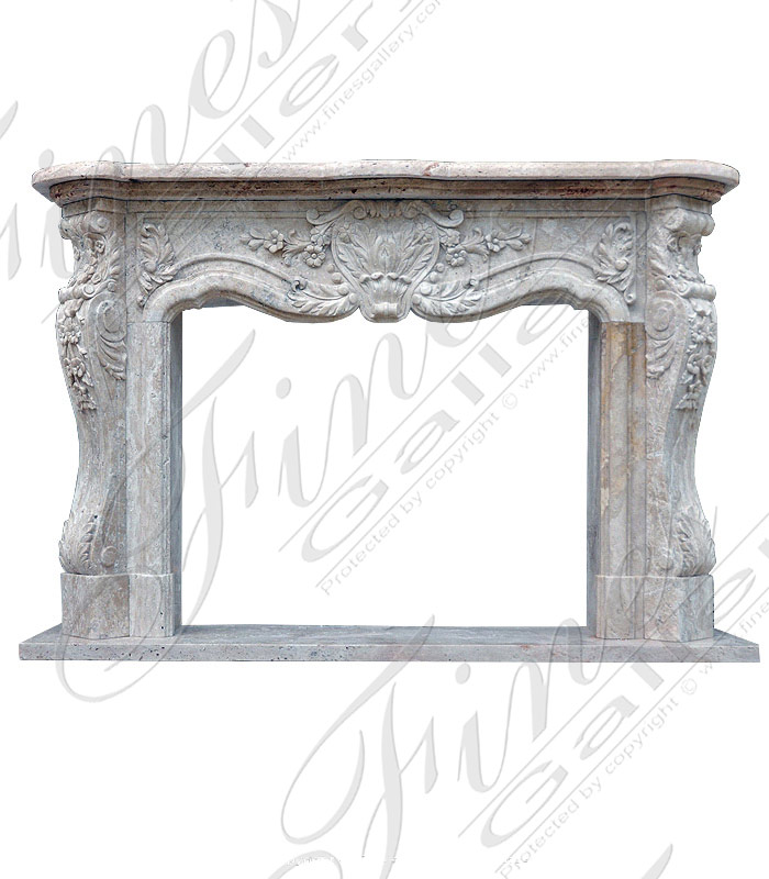 Marble Fireplaces  - White Marble French Fireplace - MFP-1140