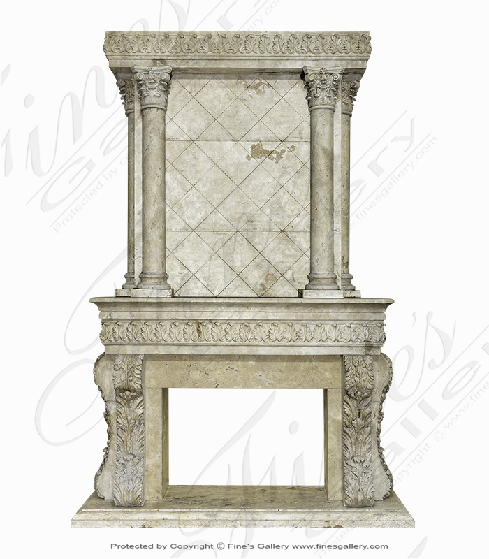 Marble Fireplaces  - Fines Classic Marble Over Mantel - MFP-1160