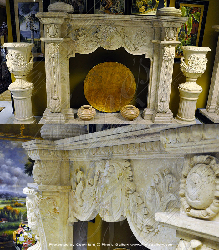 Antique Style Fireplace - Marble Fireplace Fireplace