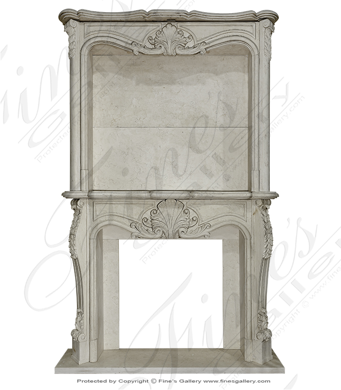 Marble Fireplaces  - Rococo Masterpiece I - MFP-1246