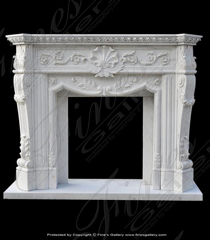 Ornate Luxury Marble Fireplace