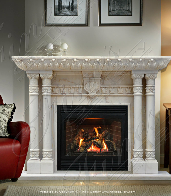 antique white marble fireplace ebay