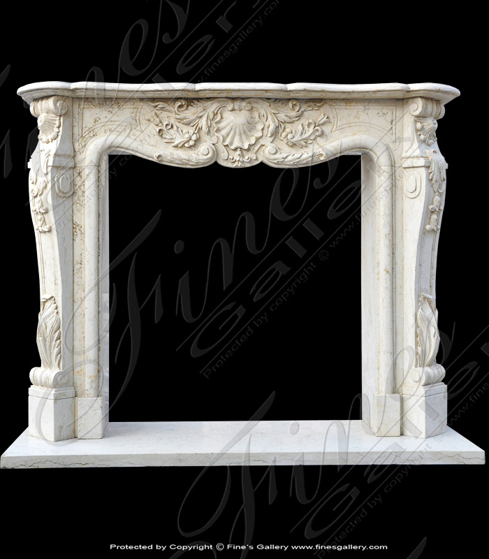 Bianco Perlino French Marble Mantel