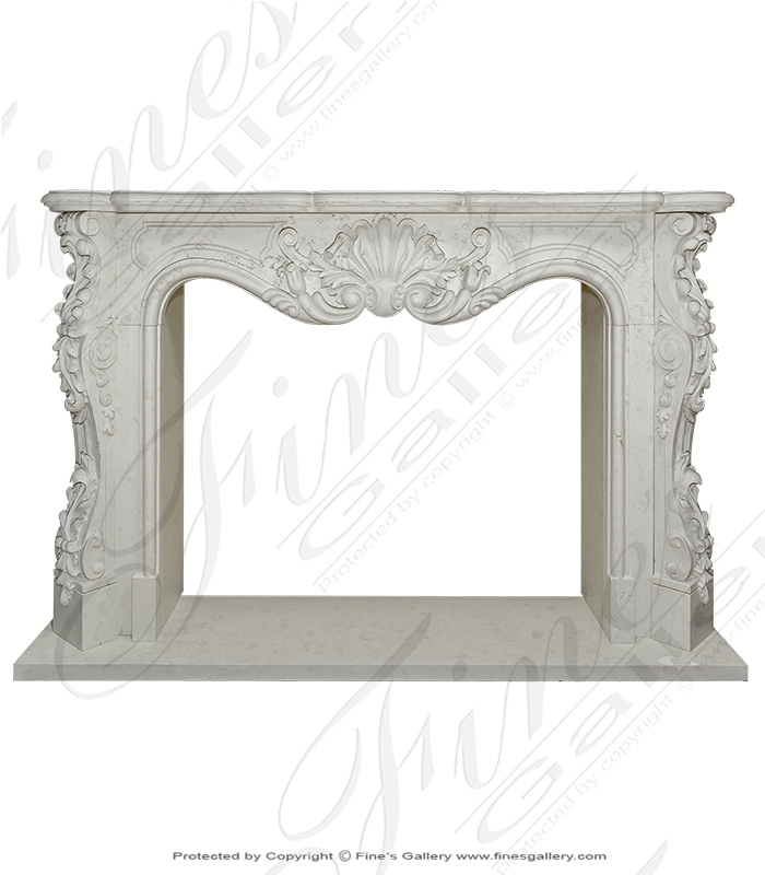 Bianco Perlino Marble Fireplace