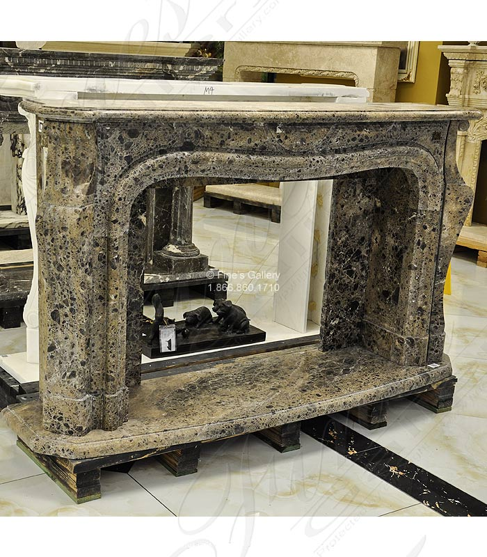 Marble Fireplaces  - Contemporary Marble Fireplace - MFP-1351