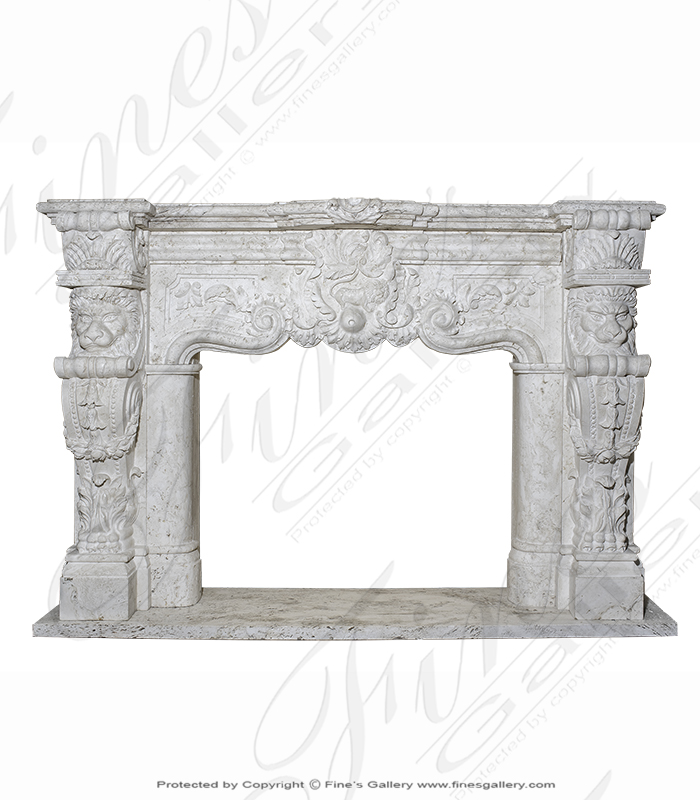 Marble Fireplaces  - Ornately Carved Italian Style  - MFP-1388