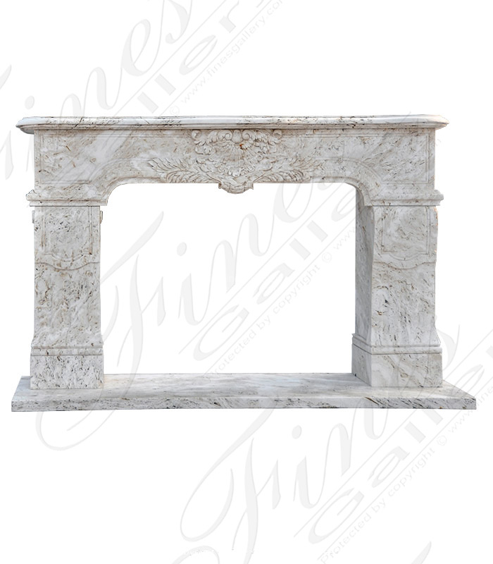 Travertino Scabas Marble Fireplace