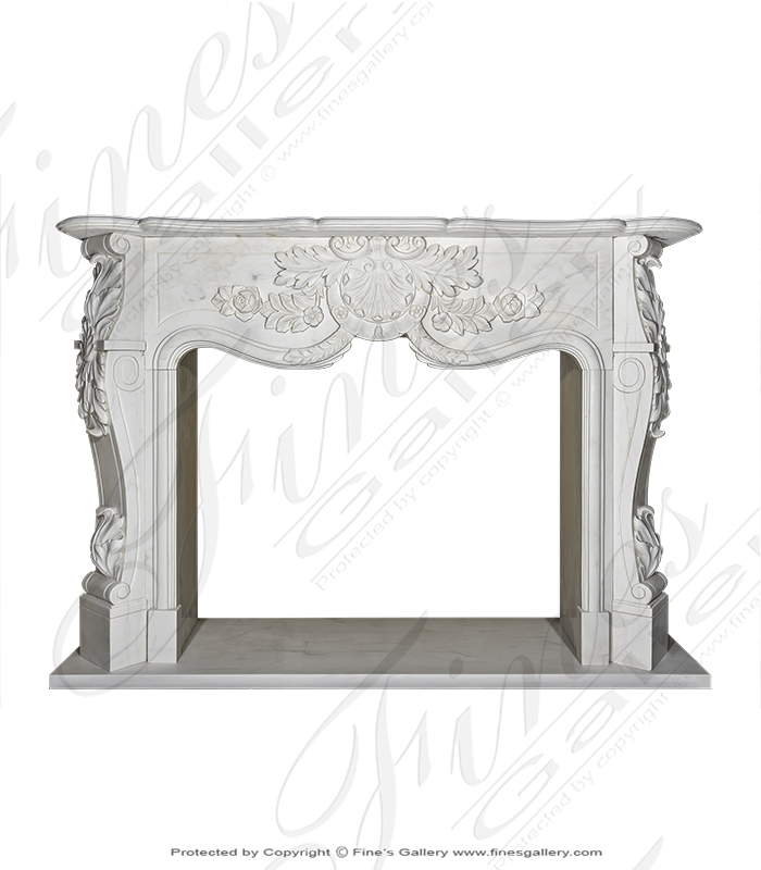Bianco Marble Fireplace Surround