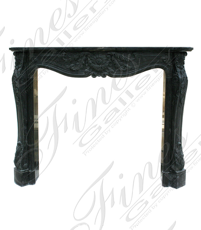 Black Marble French Fireplace