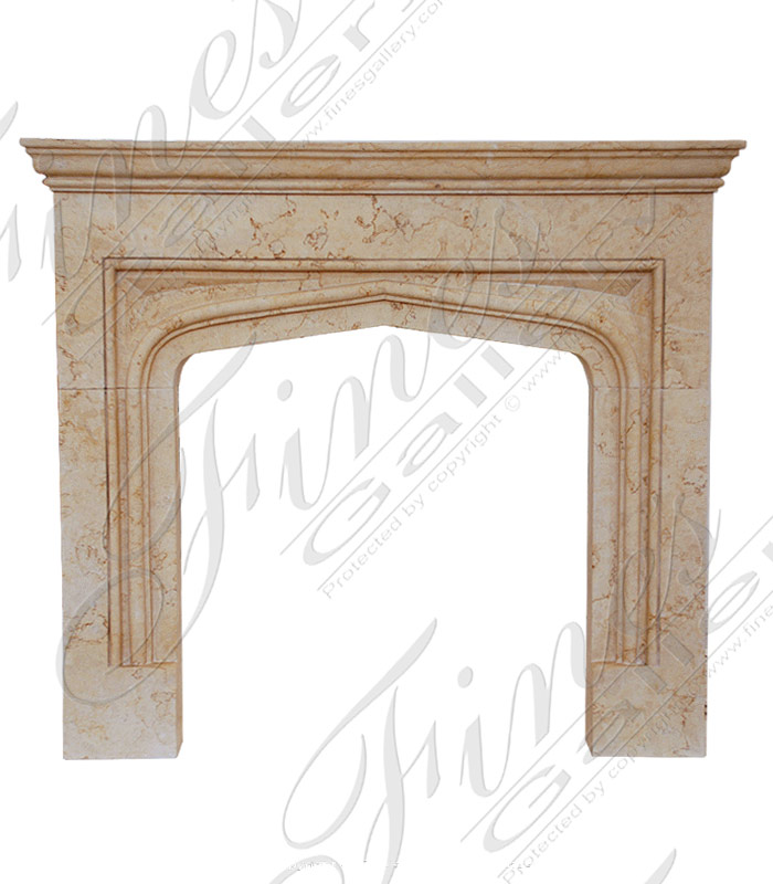 Gold Marble Fireplace