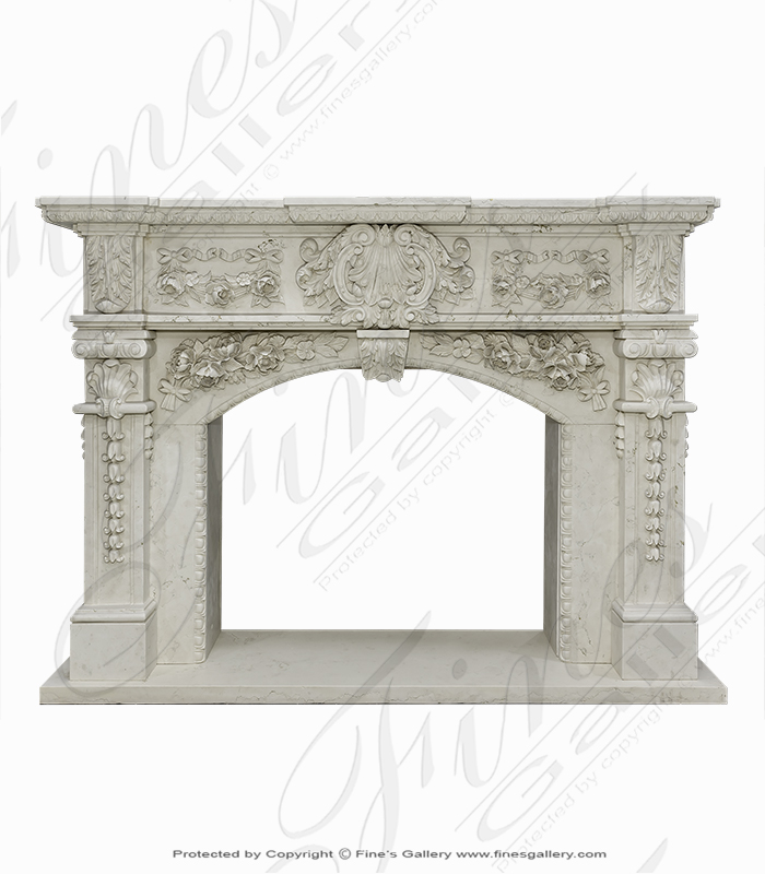 Ornate Marble Fireplace Surround