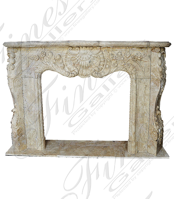 Marble Fireplaces  - Breccia Antique Siena Mantel - MFP-1222