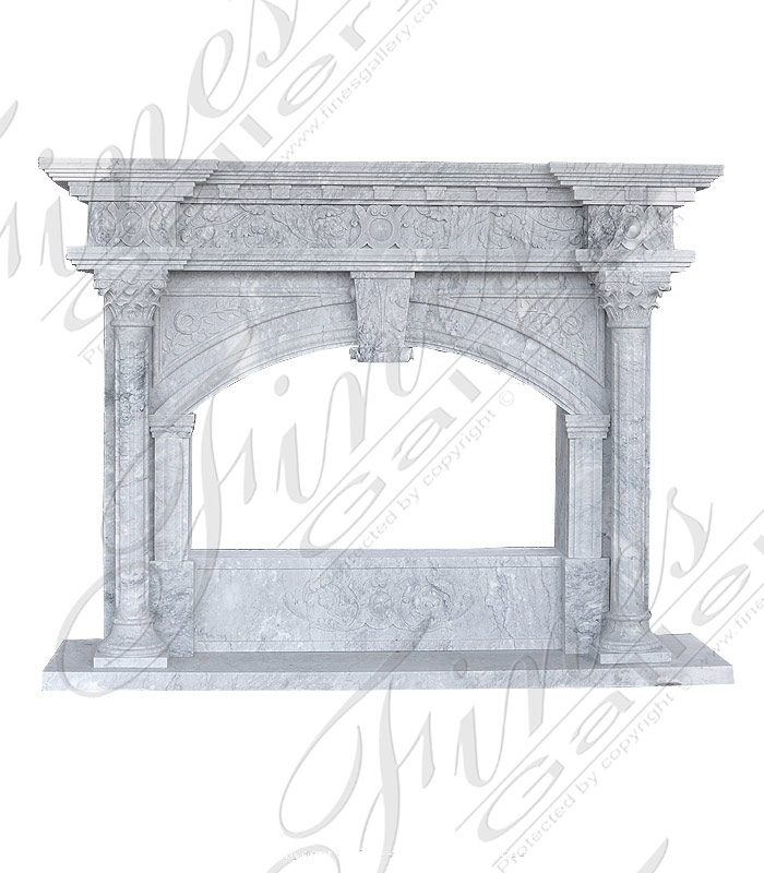 Bluish Gray Marble Mantel