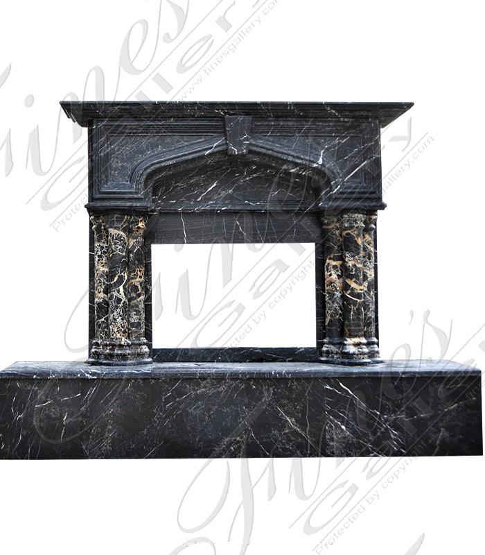 Portoro Marble Fireplace