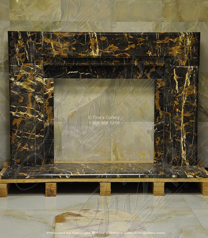 Contemporary Black Fireplace Mantel