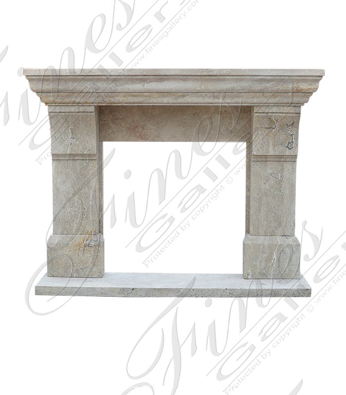 Search Result For Marble Fireplaces  - Transitional White Marble Mantel - MFP-1557