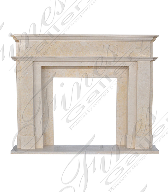 Cream Marble Fireplace Surround