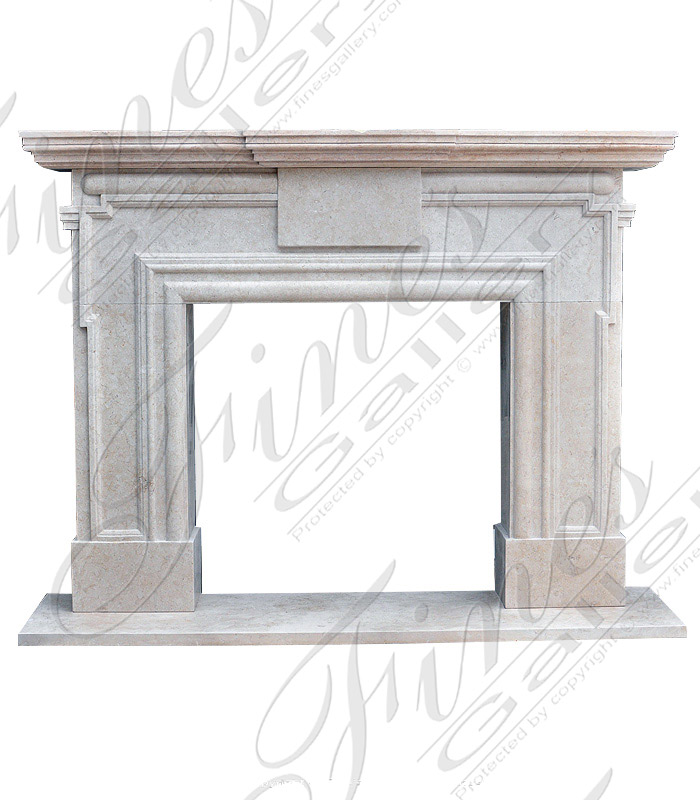 Contemporary Marble Mantel