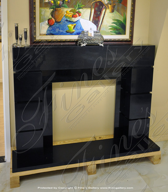 Contemporary Granite Mantel