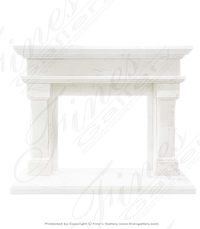 Transitional White Marble Fire