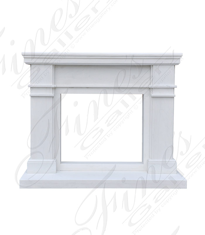 White Marble Mantel