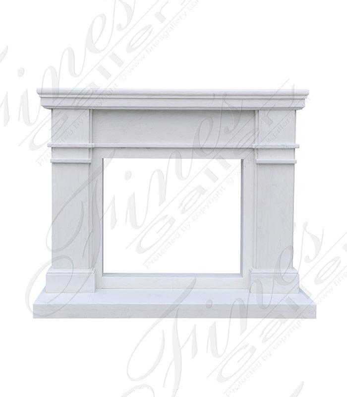 Contemporary Statuary White Mantel