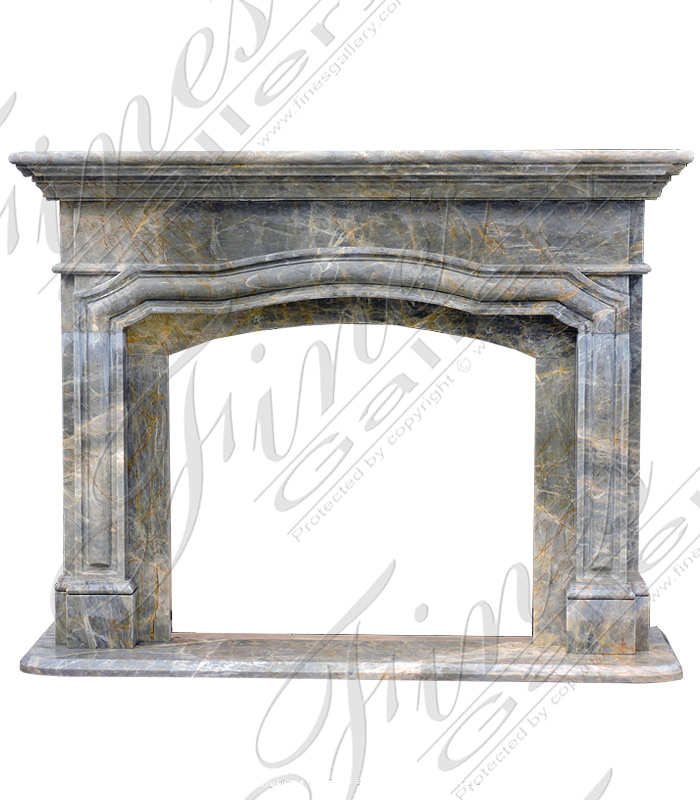 Arched Marble Fireplace