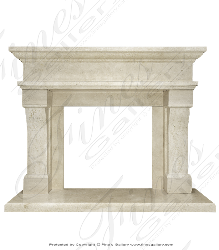Transitional Cream Marble Mant