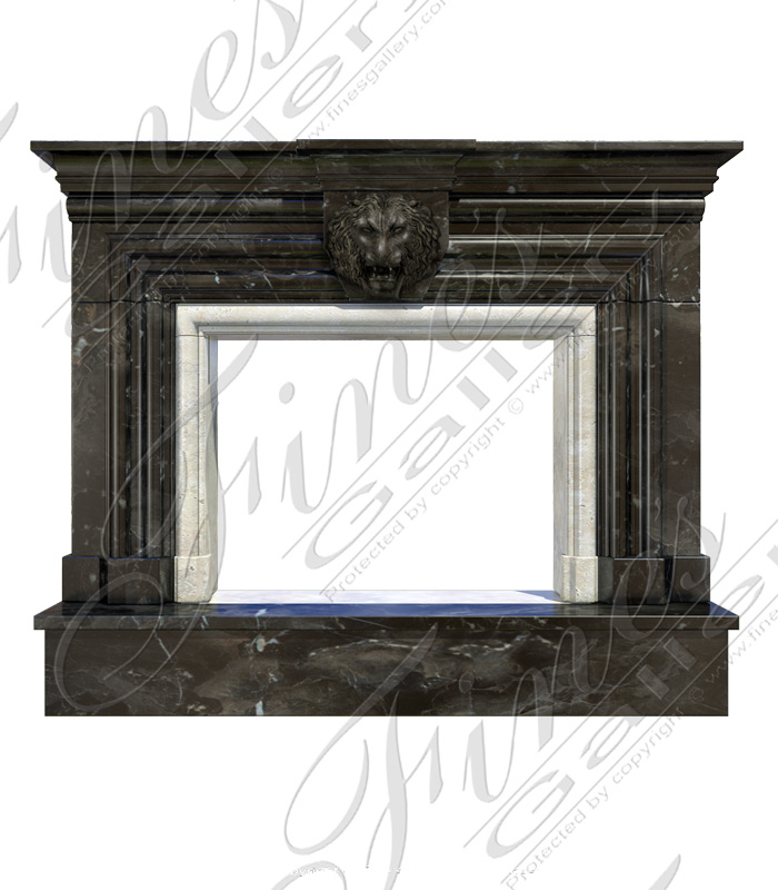 Marble Fireplaces  - Black Marble Majesty Mantel - MFP-1623