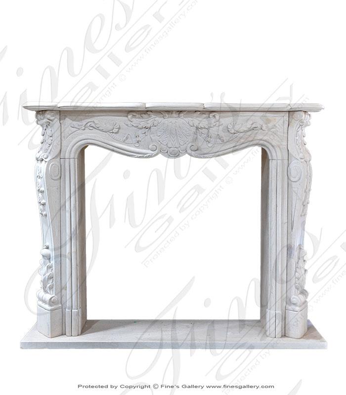 French Limestone Mantel