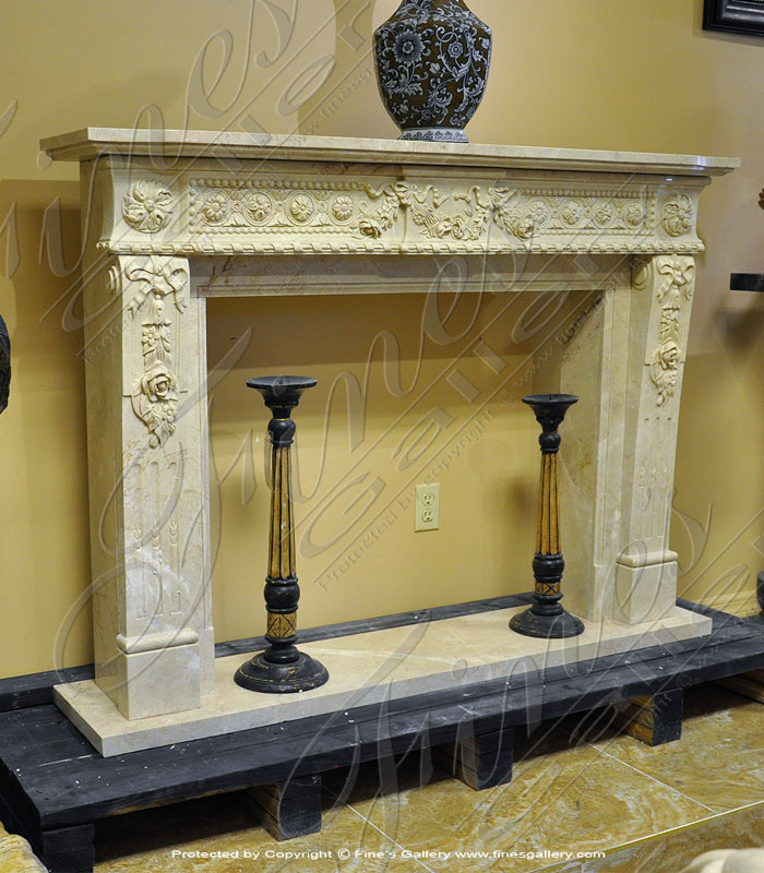 Crema Marble Fireplace