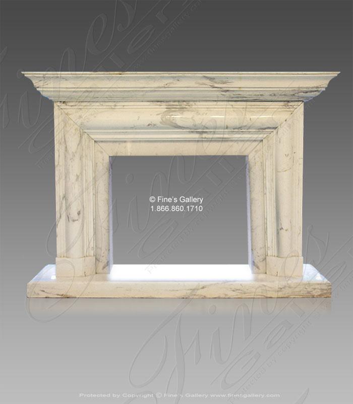 Volakos White Marble Fireplace