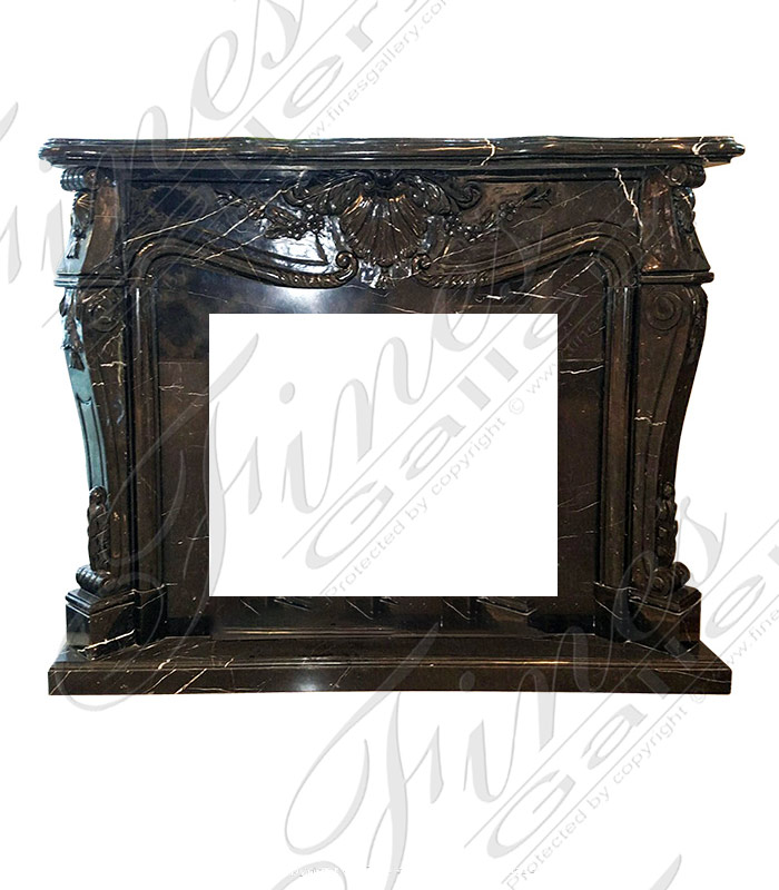 Black French Fireplace