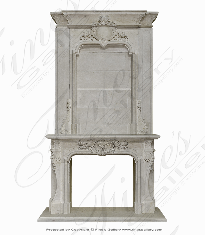 Marble Fireplaces  - Regal Cream Overmantel - MFP-1745