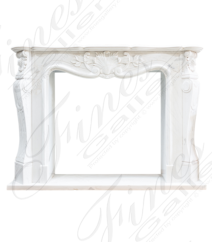 French White Marble Surround