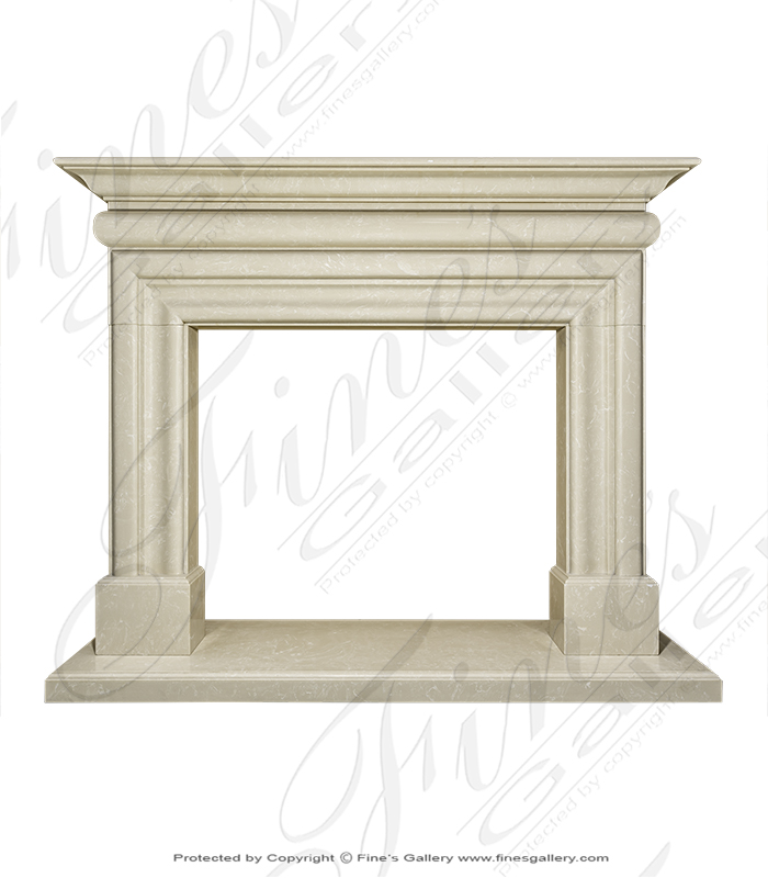 Cream Fireplace