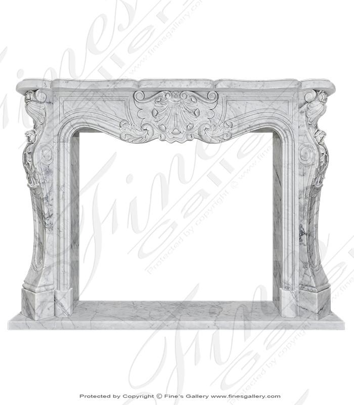 Italian Carrara White Marble Mantel