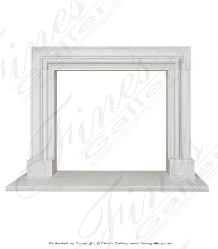 Marble Fireplaces  - Statuary White Bolection Surround - MFP-1813