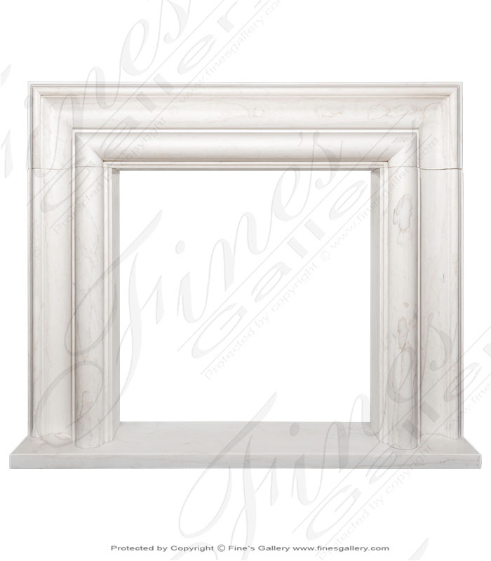 Pure White Marble Bolection Mantel