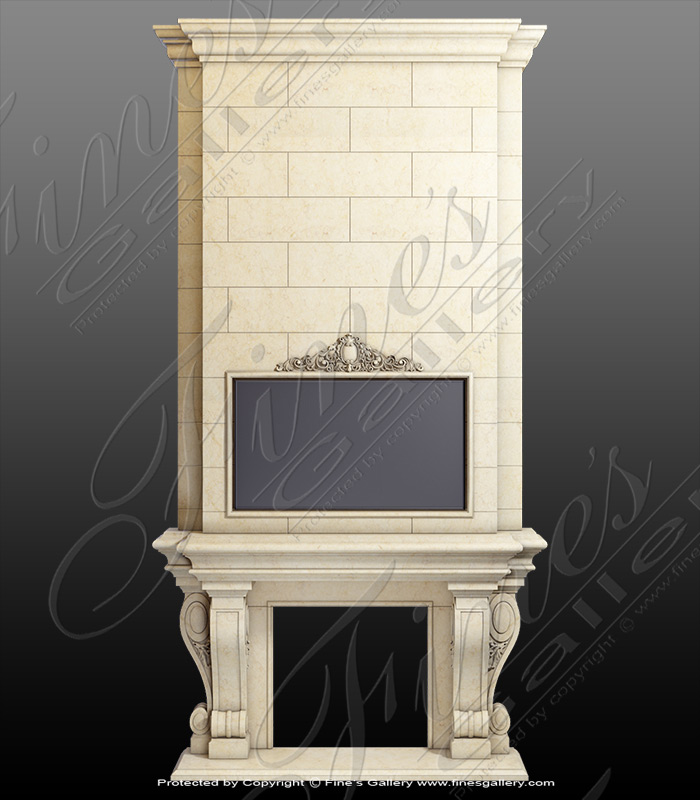 Estate Overmantel in Cream Mar