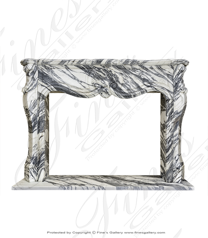 Exotic Arabescato Marble Mantel